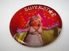 Vintage Pin Button: Superstar Miss Piggy Muppets Henson Associates 1981