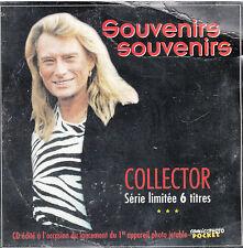 "CD EP 6 T JOHNNY HALLYDAY ""SOUVENIRS SOUVENIRS""  (NEUF SCELLE) (PROMO)"