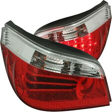 ANZO L.E.D TAIL LIGHTS RED/CLEAR FOR 04-07 BMW 5 SERIES E60