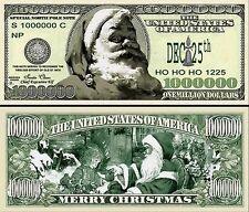 "10 $25.00 Christmas Dollars  /"" Novelty Note /""  Holiday Cheer Happy Holiday"