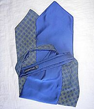 * Vintage SMART BIADESIVO Cravatta Blu O/S Blu Paisly O/S Lloyd Attree & Smith