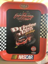 """2003 Coca-Cola Nascar """"Driving Your Thirst"""" Metal Tray"""