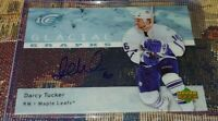 07-08 UD Ice Darcy Tucker Auto Glacial Graphs Autograph Maple Leafs