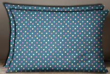 S4Sassy Cotton Poplin Polka Dot Print Pillow Sham Rectangle Cushion Cover 2 Pcs