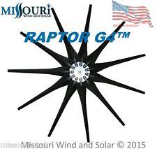 11 Raptor Series Blades™ BLACK wind turbine blades and hub made in USA HD
