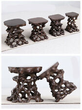 NEW Stand display hard wood China new wood root carving wooden bonsai base SET