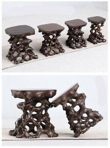 NEW Stand display hard wood China new wood root carving wooden bonsai base SET