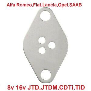 Flangia piastra chiusura valvola egr Alfa Romeo,Fiat,Lancia,Opel,SAAB JTD 8/16V