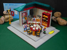 Playmobil Ladengebäude 7687-A/2004 u. Cafe-Einrichtung 7846-A/2006, BAs, o. OVP!