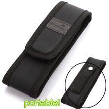 Black 16cm  Nylon Holster Holder Pouch Case for LED Flashlight Torch BT