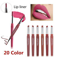 Double Head Long Lasting Waterproof Pencil Lipstick Pen Matte Lip Liner Make UP