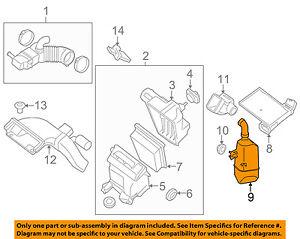 NISSAN OEM 07-12 Sentra Air Cleaner Intake-Resonator Duct Tube Hose 16585ET000