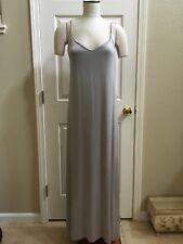 Zara Trafaluc Collection Womens Satin Gray Maxi Long Dress Camisole Size S A058