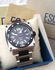 ESQ (MOVADO) Swiss Quartz Made BlackFin Men's Stainless Steel Watch E5447