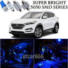 For Hyundai Tucson 2014-2017 Blue LED Interior + License Plate Light Kit 10PCS