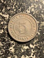 1920 Straits Settlements 5 Cents Lot#Q0079
