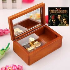 { Pirates of Caribbean - He's A Pirate} Rectangle jewelry Wooden Music Box