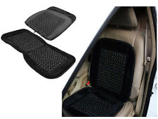 Black Wooden Bead Beaded Massage Massaging Car Van Taxi Front Seat Cover Cushion