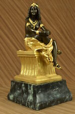 Statue Signé Chiparus charme Dancer Bronze Marbre Sculpture 15""