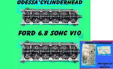 NEW 2 FORD TRITON F250 F350 6.8 SOHC 2 VALVE V10 CYLINDER HEADS #F7UE BOLT&GASKT