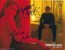 Matthew Rhys Noah Emmerich Joe Weisberg Joel Fields signed Americans 8X10 photo