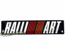 NEW Brushed Aluminium ralliart Car badge Mitsubish Evo