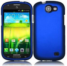 For Samsung Galaxy Express i437 Rubberized HARD Case Phone Cover Blue