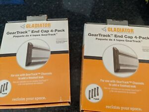 Gladiator GAACGE4PPM Geartrack End Caps, 4-Pack
