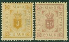 EDW1949SELL : ICELAND 1876-95 Scott #O4, 9 Very Fine, Mint No Gum. Catalog