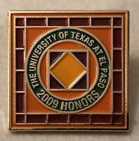 The University Of Texas At El Paso 2009 Honors Award Lapel Hat Pin Pinback ~UTEP