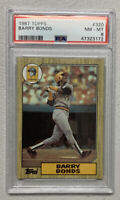 1987 Topps Baseball #320 Barry Bonds Rookie Card PSA 8 NM-MT RC