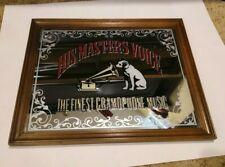 """Vintage RCA His Master's Voice The Finest Gramophone Music, Mirror 13.5"""" × 17.5"""""""