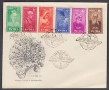 INDIA 1952 SAINTS AND POETS SET ON ILLUSTRATED FDC CALCUTTA CDS (ID:611/D53421)