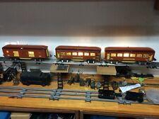 Lionel Pre-War O-gauge Lighted 613, 614 & 615 Passenger Car Terra Cotta / Maroon