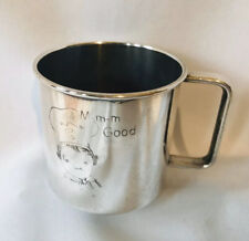 "Vintage Campbell's Soup Silver Baby Child Cup M-m-m Good 2-1/2"" Wm Rogers"