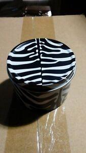 Bath & Body Works Candle tins black and white zebra top 24 Slatkin 1.6 oz
