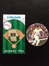 New York Yankees Don Mattingly jersey lapel pin & vinyl sticker-Collectibles