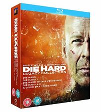 DIE HARD LEGACY COLLECTION ALL 5 FILMS BLU-RAY 6 DISCS BOX SET REG B NEW&SEALED