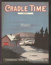 Cradle Time 1917 SONG VERSION Vintage Sheet Music Q26
