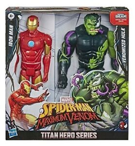 "Marvel Titan Hero Spider-Man Maximum Venom Iron Man vs Venom Hulk 12"" Toy Sale"