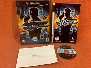 007 Agent Under Fire Nintendo GameCube Black Label Registration Game Complete!