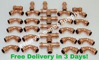 "(Lot of 30) 1/2"" Propress Copper Fitting, 5 Tees, 20 Elbows, 5 Couplings,"