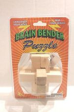 Wooden Brain Bender Puzzle for Ages 8+ Wood Challenge Puzzle Toy NEW