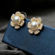 E681 Betsey Johnson Pearl Floral Sun Flower Wedding Bridal Stud Earrings  UK