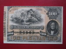 BILLETE CLASICO DE 100 PESETAS 1884 MENDIZABAL S/C-