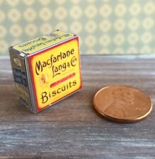Dollhouse miniature food 1:12 Vintage Replica Assorted Biscuits Tin
