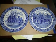 Two Vintage Historical Staffordshire Plates House of Seven Gables & Coolidge Hom