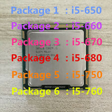 Intel Core i5-650 i5-660 i5-670 i5-680 i5-750 i5-760 CPU LGA1156 Processor