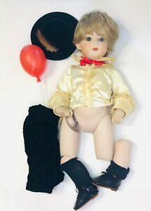 Vintage Bisque Porcelain Jointed Boy Doll - Needs Repairs - Kit Walker Swiers 11