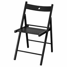 IKEA TERJE Folding chair, black/red/brown/white